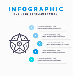pentacle satanic project star blue infographics vector image