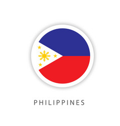 Philippines circle flag template design vector