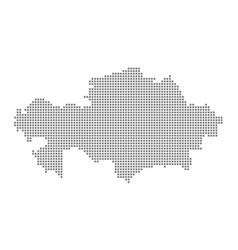 pixel map of kazakhstan dotted map of kazakhstan vector image