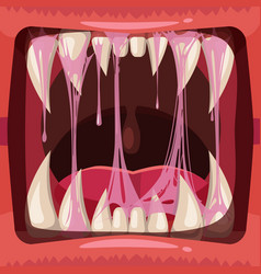Predatory jaws a fantastic horrible scary vector