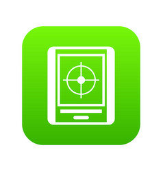 radar icon digital green vector image