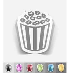 realistic design element pop corn vector image