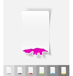 Realistic design element skunk vector