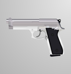 Realistic of a silver handgun vector