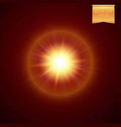 Realistic yellow orange supernova star explosion vector