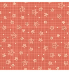 Seamless pattern with stylized stars vector image