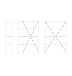 Set of metal white standing rack vector image