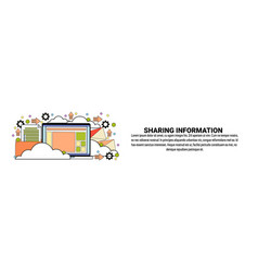 sharing information technology concept horizontal vector image