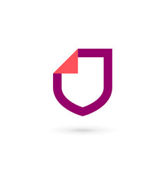 shield document logo icon design template elements vector image