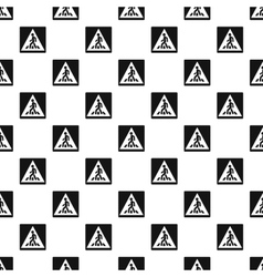 Sign pedestrian crossing pattern simple style vector