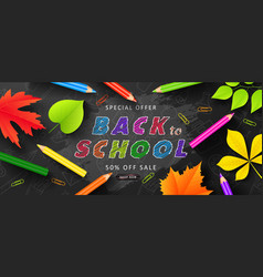 Special offer back to school sale advertising vector