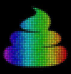 Spectrum pixel crap icon vector