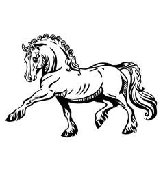 standing pony 2 vector image