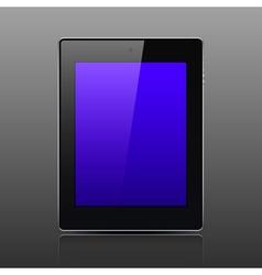 Tablet computer black color vector image