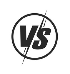vs or versus logo icon for battle or fight game vector image