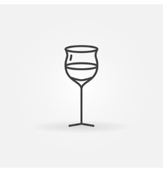 Wine glass thin line icon vector image