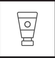 Women lubricating gel or female lubricant linear vector