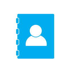 contacts book on white background contacts book vector image vector image