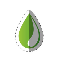 green water drop environment design vector image