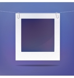 Isolated blank picture or photo frame vector image vector image