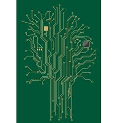 Computer motherboard tree vector image