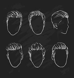 Hand drawn hipster fashion Man hair vector image vector image