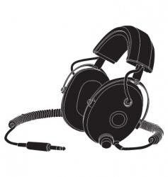 headphones outline vector image vector image