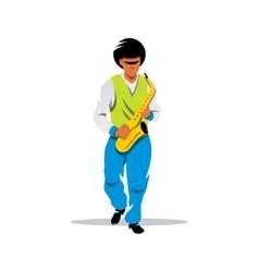 Saxophonist Cartoon vector image