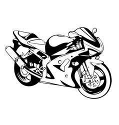 sport superbike motorcycle with helmet eps 10 vector image vector image
