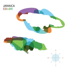 Abstract color map of Jamaica vector image vector image