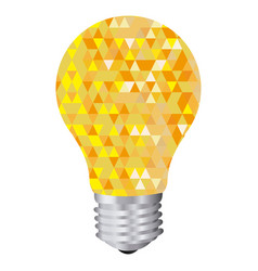 background with yellow light bulb and abstract vector image vector image