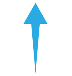 blue up arrow on white background up arrow sign vector image vector image