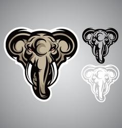 elephant head emblem logo vector image vector image