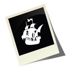 pirate boat picture vector image