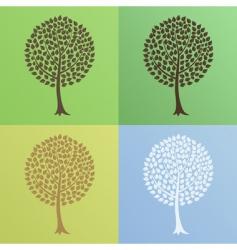 tree6 vector image vector image