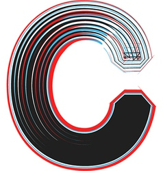 Abstract font letter c vector