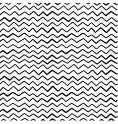 abstract hand draw seamless zig zag pattern vector image