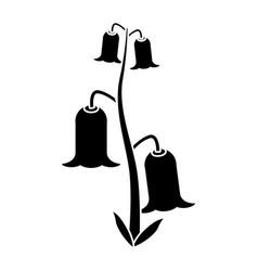 bell flowers flora botany pictogram vector image