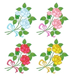 flowers rose set vector image vector image