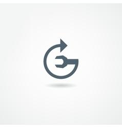 mechanic icon vector image