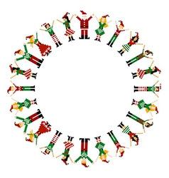 Merry xmas happy circelebration vector