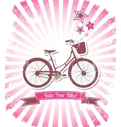 Ride your bike banner vector image vector image