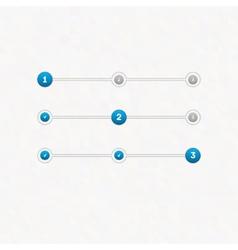 set of step progress bar vector image vector image