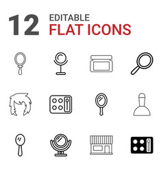 12 makeup icons vector