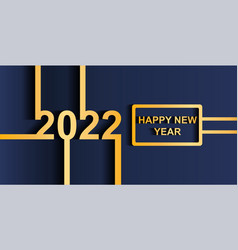 2022 happy new year concept vector