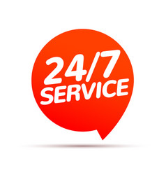 24 hour 7 day service available support service vector