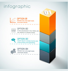 3d colorful column infographics vector