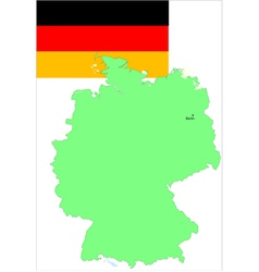 6139 germany map and flag vector image