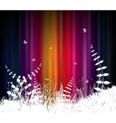 abstract background with grass vector image