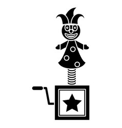 April fools jack in the box pictogram vector